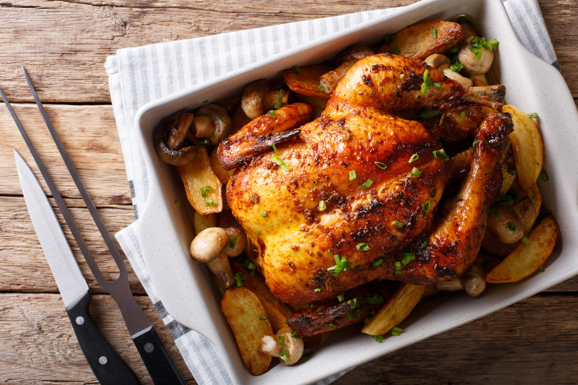 Roast Chicken cooked safely